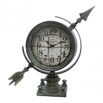 Arrow Desk Clock with Face Cover 13 x 4.5 x 13 in