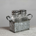 Salt and Pepper SHAKERS IN TIN HOUSE