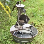 VINTAGE TIN FOUNTAIN