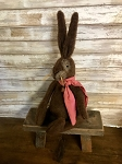 Handmade Plush Bunny with Scarf 17