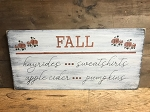 Fall Large Handmade Sign 11.25