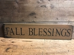 Fall Blessings Handmade Sign 6