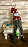 Handmade Fishing Medium Sitting Gnome 18