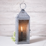 Tall Harbor Electric Lantern in Weathered Zinc