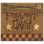 Folk Art by David 2019 Mini Wall Calendar