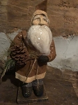 Arnett's Belsnickle Santa Holding Pinecone and Faux Greens 15