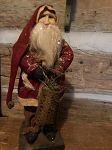 Arnett's Santa Wearing Red Coat Holding Basket 17