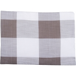 Buffalo Check Placemat Cream - Pewter