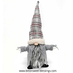 NILS GNOME WITH PLAID HAT AND GREY CAPE 9