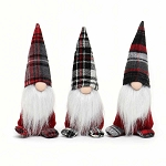 LUKI GNOME WITH PLAID HAT AND BOOTS 7.5