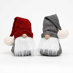 IVAN GNOME WITH SWEATER HAT AND LG POM-POM 2 ASSORTED BURGUNDY/GREY 5.25