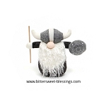 THOR VIKING GNOME WITH STAFF AND SHIELD SMALL 9