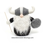 THOR VIKING GNOME WITH STAFF AND SHIELD LARGE 14