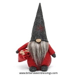 TOMTE GNOME WITH DARK GREY SNOWFLAKE HAT 9