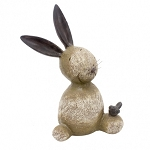 Small Resin Rabbit with Wire Whiskers 6.5 x 4 x 8.6 in