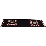 Home Is Where The Heart Is Black Table Runner