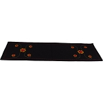 Flower Swirl Black Table Runner