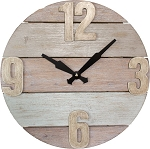 Light Wood Pallet Clock