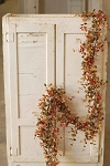 Bog Pimpernel Garland | Red | 6'
