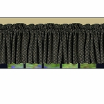 Kingston Jacquard Valance Black