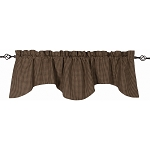 Newbury Gingham Scalloped Valance Black - Oat