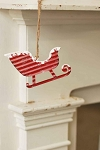 Red Sleigh Ornament