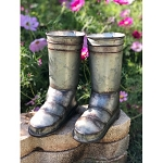 Galvanized Metal Boots (set of 2) 9