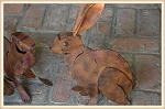 Rust Sitting Rabbit