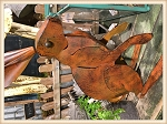 Rust Standing Rabbit