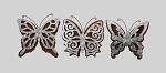 Metal Butterfly Wall Decor 3ast
