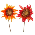 Sunflower Pick: Burgundy or Orange 10 inches