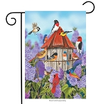 Birds and Lilacs Garden Flag