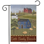 Faith Family Friends Garden Flag
