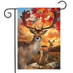 Harvest Deer Garden Flag