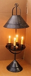 Melrose Quad Light with Shade Table Lamp Handmade Tin