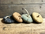 Pumpkin with Real Stem Assorted Colors Handmade