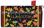 Welcome Leaves Mailbox Cover