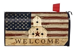 Americana Welcome Mailbox Cover