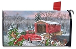 Winter Covered Bridge Mailbox Cover