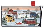 Winter Saltboxes Mailbox Cover