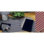 Heritage House Check Table Runner Black