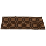 Smithfield Jacquard Table Runner Black Coverlet
