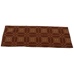 Smithfield Jacquard Table Runner Barn Red Coverlet