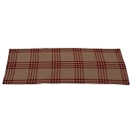 Chesterfield Check Barn Red Table Runner Oat-Barn Red