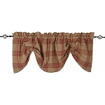 Chesterfield Check Gathered Valance Oat - Barn Red