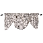 Timeless Quatrefoil Gathered Valance Cream - Black