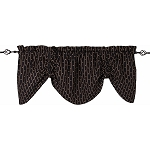 Little Stars Gathered Valance Black - Nutmeg