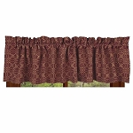 Marshfield Jacquard Valance Barn Red