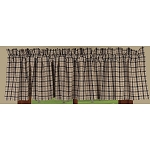 Salem Check Valance Black