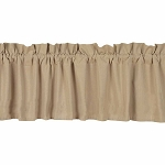 Farm House Solid Valance Nutmeg